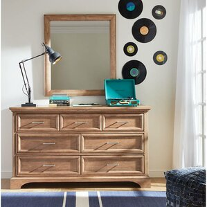 Chelsea Square 7 Drawer Double Dresser with Mirror by Stone & Leigh? by Stanley Furniture