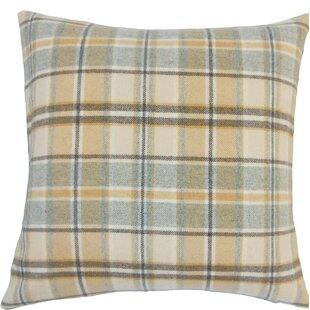 Nasnan Plaid Wool Throw Pillow