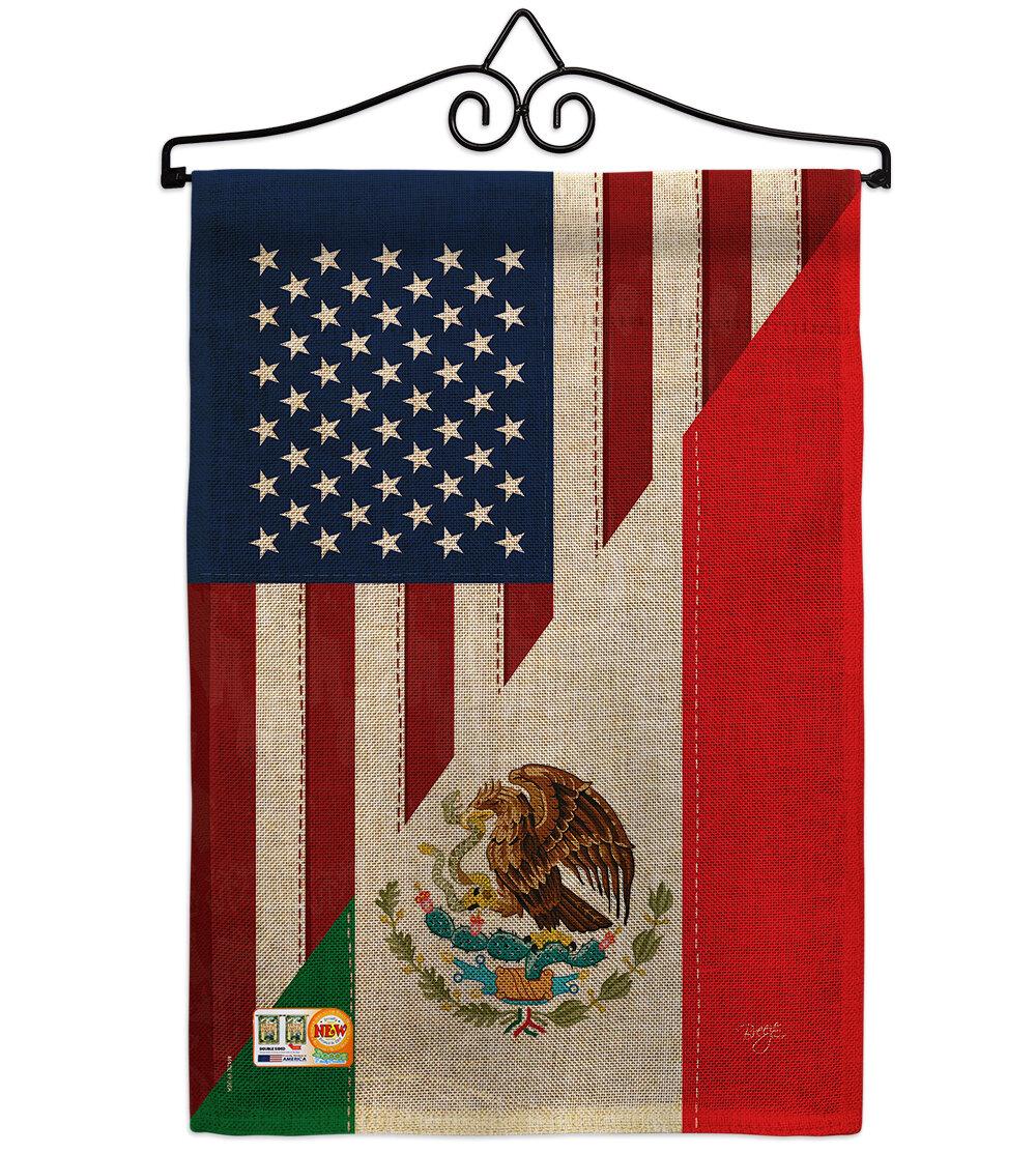 Trinx American Mexico Friendship 2 Sided Burlap 19 X 13 In Garden Flag Wayfair