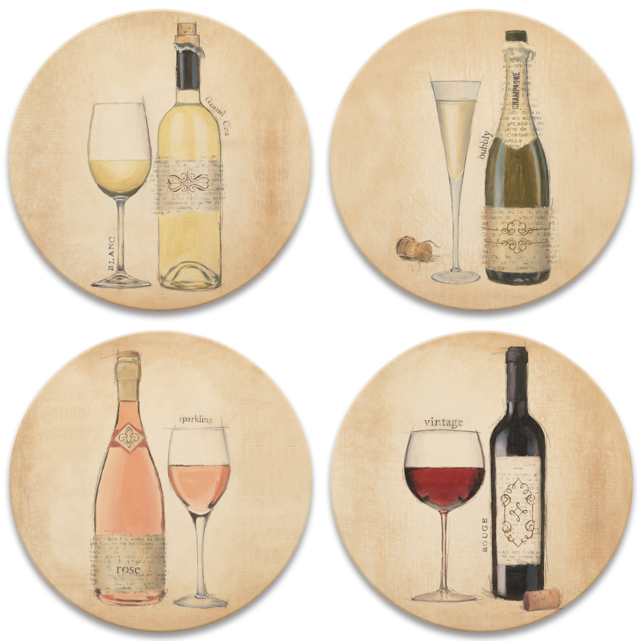 Alcott Hill Fine Wine Coaster Wayfair