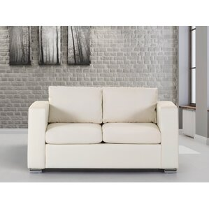 Jordon Leather Loveseat by Orren Ellis