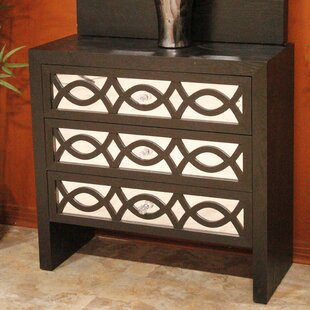Wood Accent Chest with Mirror by Heather Ann Creations