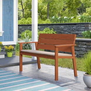 Gaeta Eucalyptus Garden Bench with Cushion