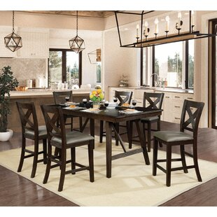 Floodwood 7 Piece Counter Height Dining Set by Gracie Oaks Savings