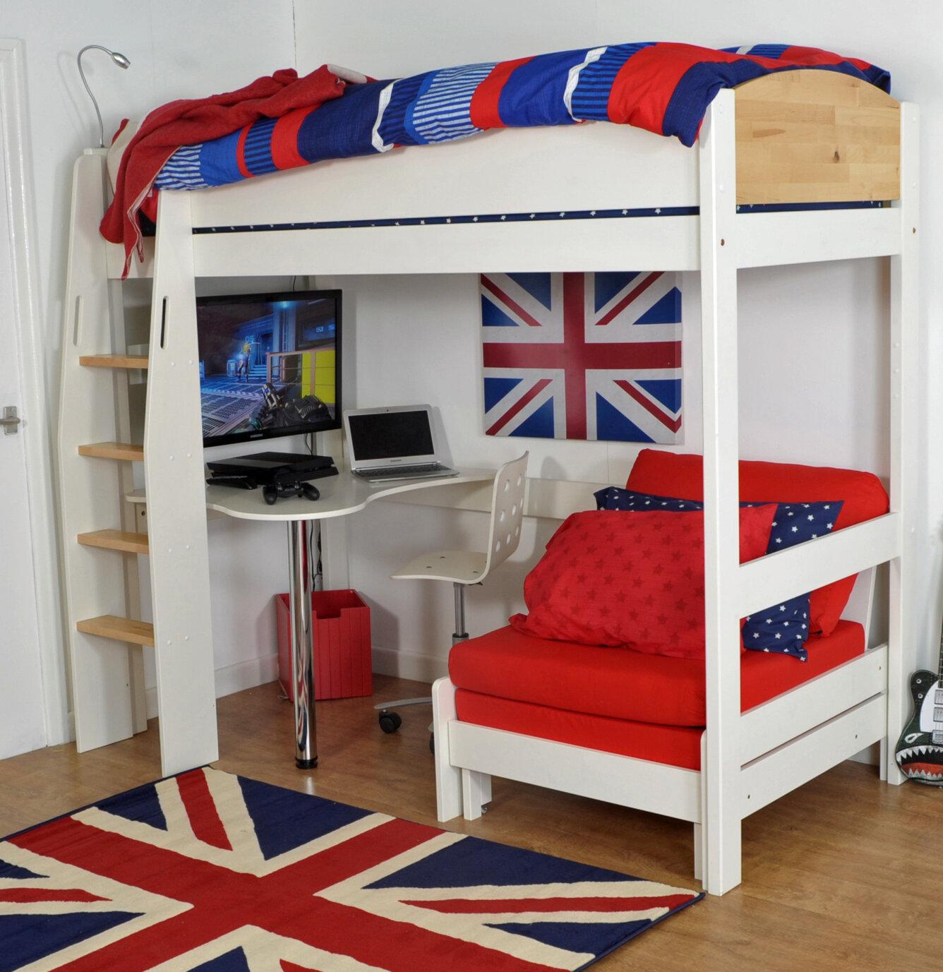 fe9f78eb4ff4 Zoomie Kids Jodi Single High Sleeper Bed With Desk | Wayfair.co.uk