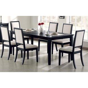Bucareli 7 Piece Solid Wood Dining Set Latitude Run