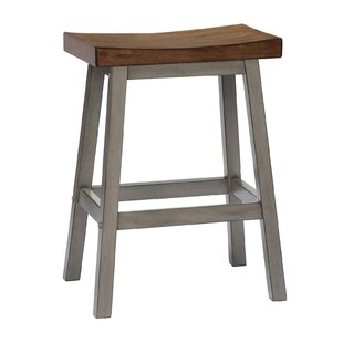 Annabell Saddle 24 Bar Stool (Set of 2) Gracie Oaks