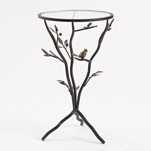 Glass Bird Table with Removable Glass Top InnerSpace Luxury Products