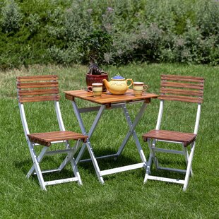 Sykes 3 Piece Bistro Set (Set of 3) by Fr..