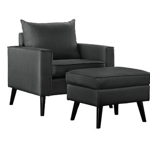 Brisson Arm Chair and Ottoman Ebern Designs