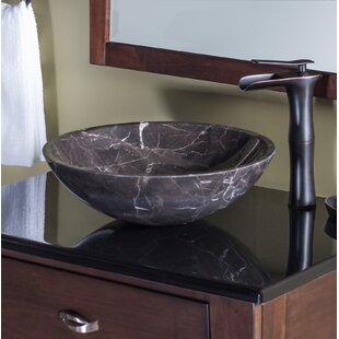 Novatto Stone Circular Vessel Bathroom Sink