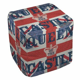 My Queen Castle Square Pouf by Manual Woodworkers & Weavers