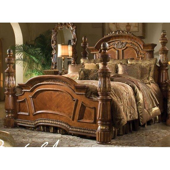 Michael Amini Villa Valencia Canopy Customizable Bedroom Set ...
