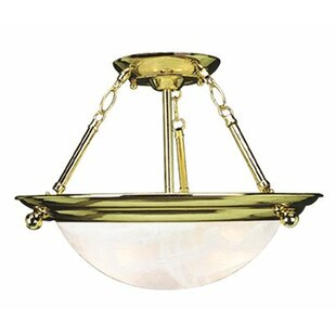 Contemporary 2-Light Bowl Pendant by Monument