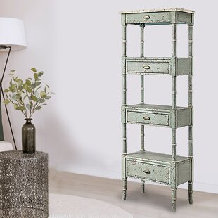 Adamson 3-Drawer Etagere Bookcase by One Allium Way