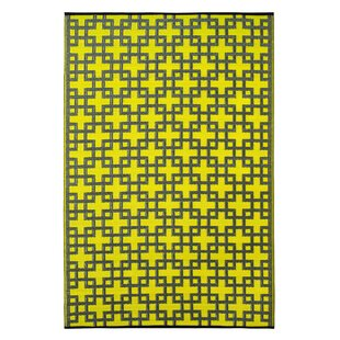 Online Reviews Rheinsberg Sunny Lime World Indoor/Outdoor Area Rug By Fab Habitat