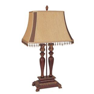 Embrey Elegant 2-Tier Pedestal 31 Table Lamp