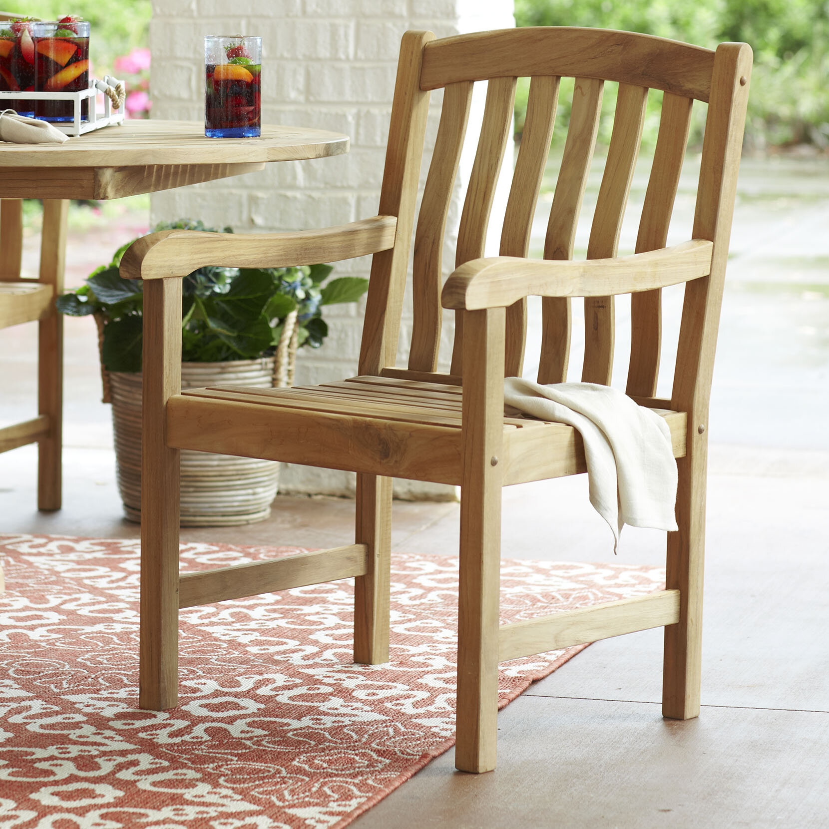 Birch lane heritage summerton teak patio dining chair reviews birch lane