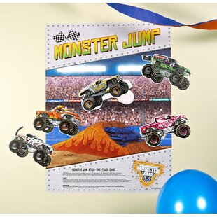 Monster Jam 3D Paper Disposable Stick the X Game