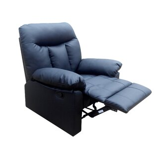Oceanview Leather Manual Recliner By Mercury Row