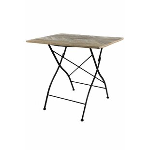 Altus Recycled Herringbone Folding Wooden Bistro Table