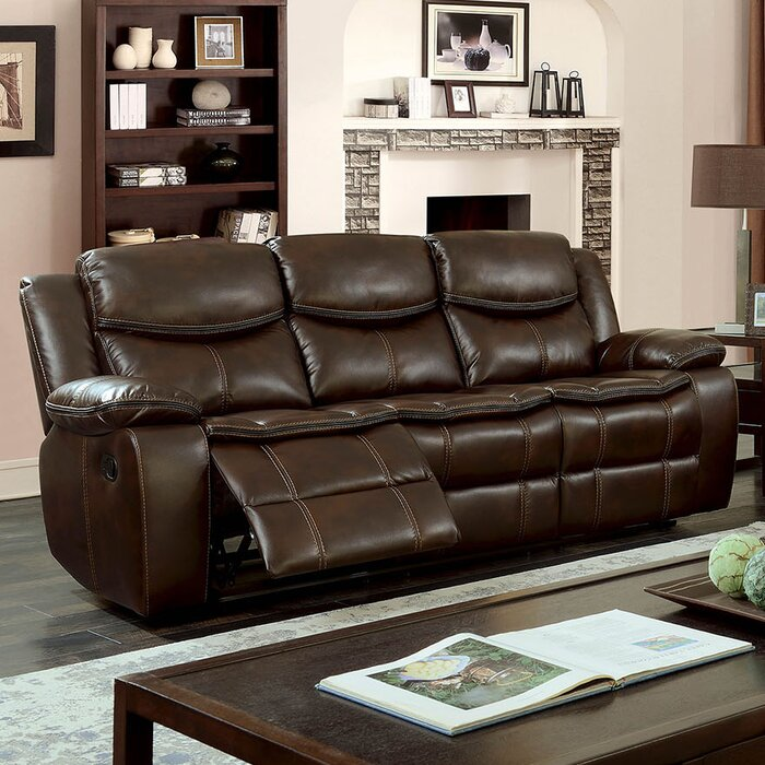 Helmer Leather Reclining Sofa