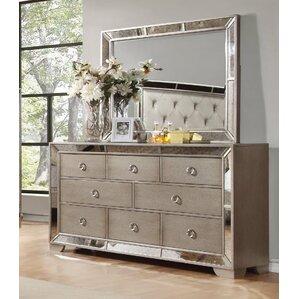 Dowson 8 Drawer Dresser With Mirror
