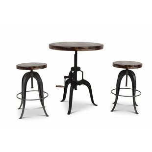Grigor 3 Piece Adjustable Pub Table Set 17 Stories