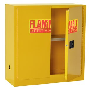 44 H x 43 W x 18 D Flammable Safety Storage Cabinet by Sandusky Cabinets