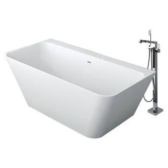 Transolid Anais 60 X 30 Freestanding Soaking Bathtub Wayfair