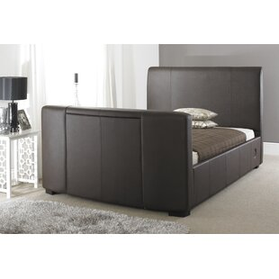 Best Price Melany Double (4'6) Upholstered TV Bed