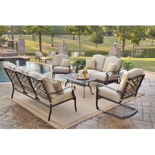 Reagan Sunbrella Deep Seating Group with Cushion by Alcott Hill