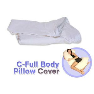 White Cotton Cover for C - Full Body Pillow by Deluxe Comfort