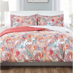 Jacobian Floral Reversible Comforter Set