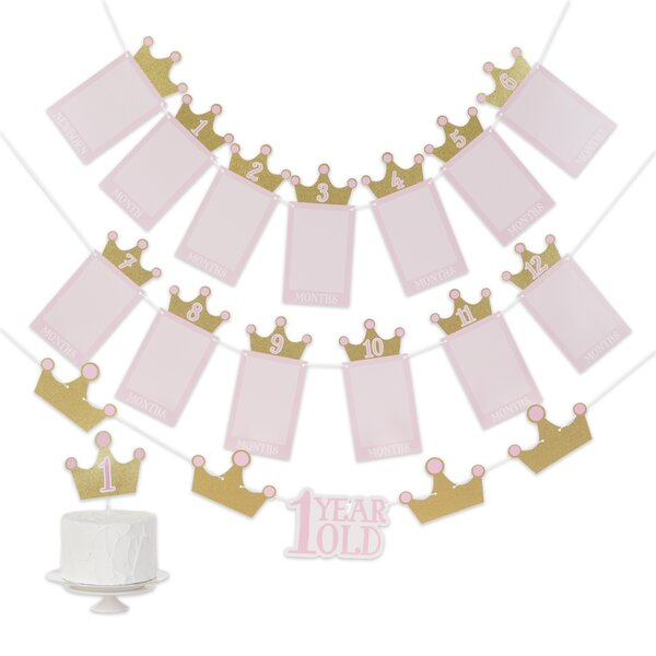 and Honeycomb Centerpiece Lil Spout Pink Baby Shower Party Supply Pack: Straws Hanging Cutouts Banner