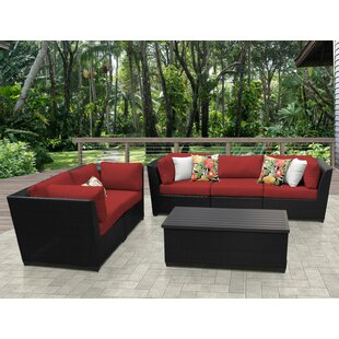 TK Classics Barbados 6 Piece Sofa Set with Cushions