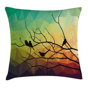 Modern Abstract Bird and Branch Pillow Cover