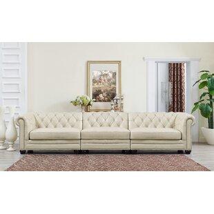 Willa Arlo Interiors Lizete Leather Chesterfield Sofa