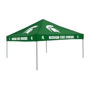 Collegiate 9 Ft. W x 9 Ft. D Steel Pop-Up Canopy - Michigan State by Logo Brands