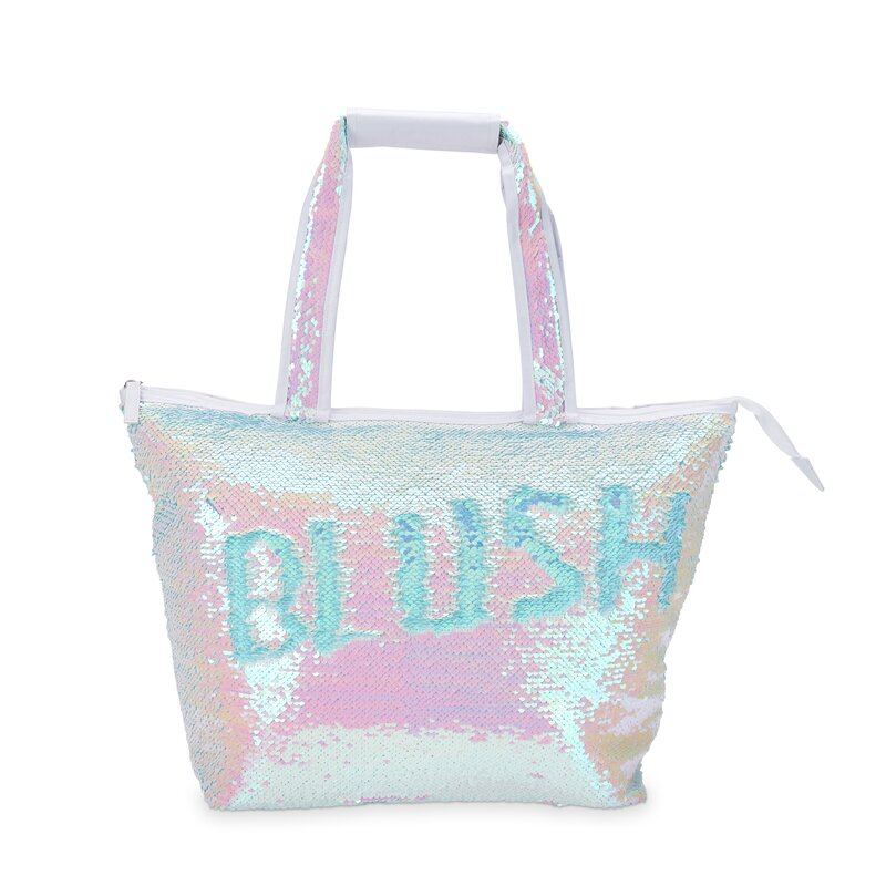 Blush 12 Can Mermaid Sequin Cooler