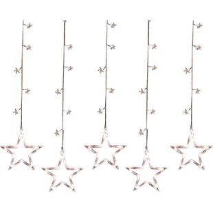 Penn Distributing 100 Light LED Star Silhouette Window Curtain Christmas Lights