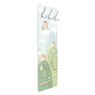 Woodland With Houses And Railway Wall Mounted Coat Rack By Symple Stuff