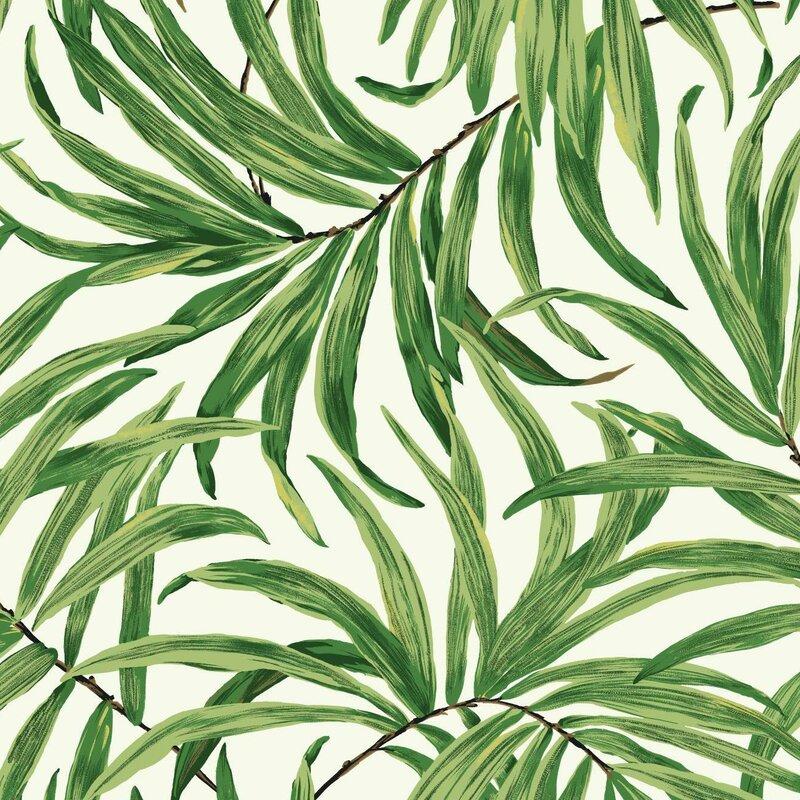 York Wallcoverings Ashford Tropics 27 X 27 Bali Leaves Wallpaper