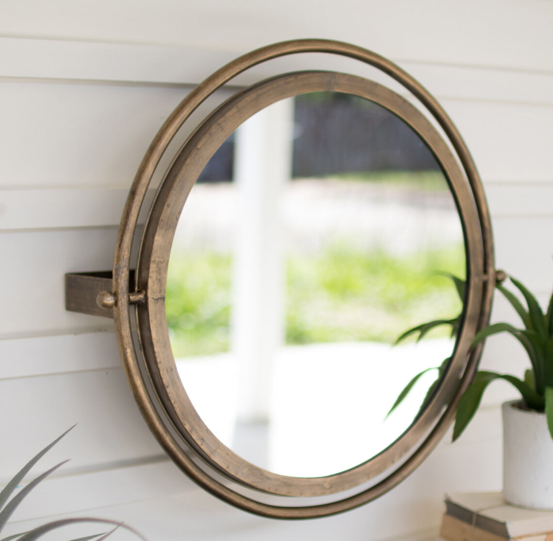 Delicieux Acushnet Wall Adjustable Accent Mirror