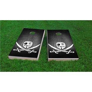 Custom Cornhole Boards Anonymous Piracy Light Weight Cornhole Game Set