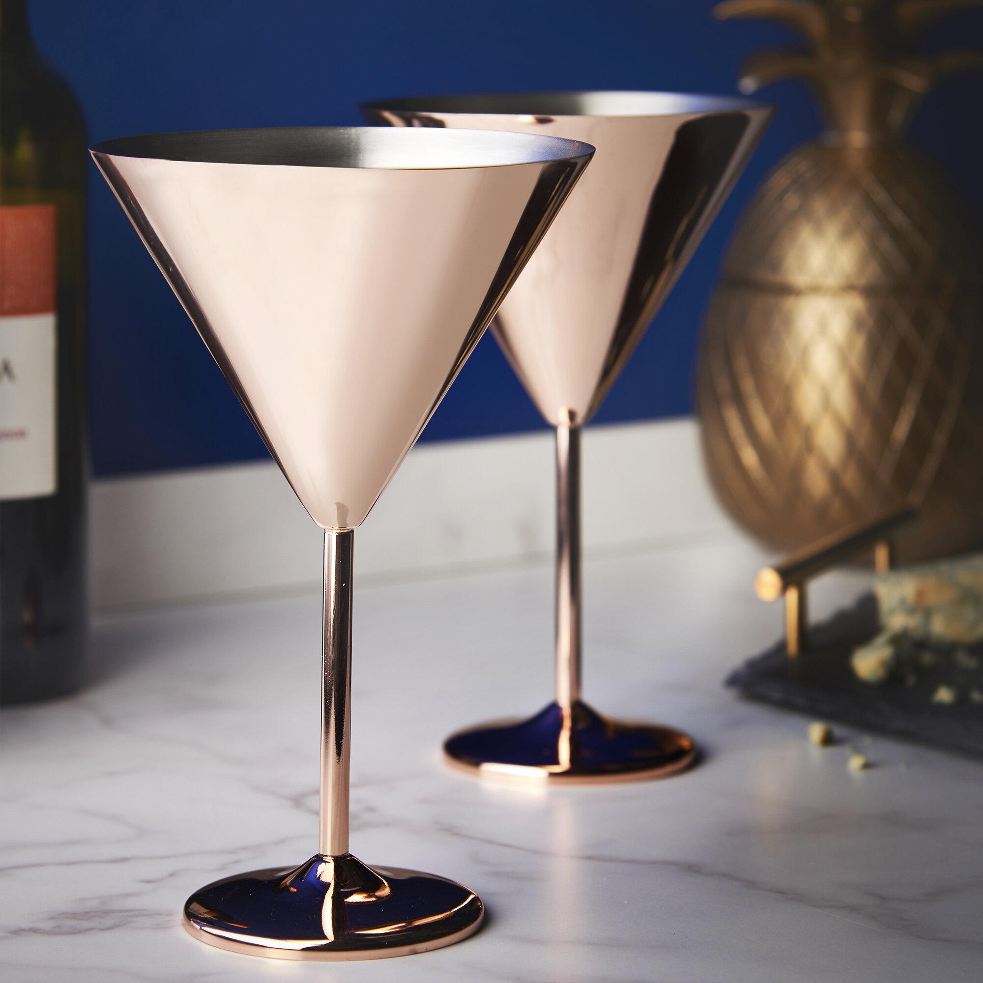 Vonshef 16 Oz Stainless Steel Martini Glass Wayfair