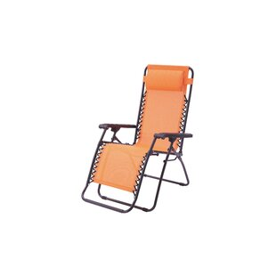 Poundex Lizkona Gavin Zero Gravity Patio Lounge Chair with Cushion (Set of 2)