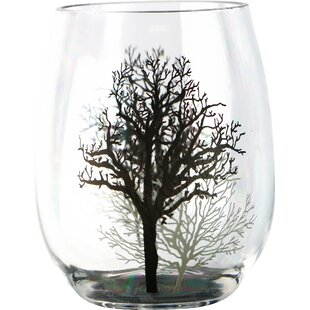 Timber Shadows 16 oz. Acrylic Stemless Wine Glass (Set of 4)