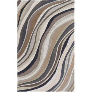 Pena Hand-Tufted Brown/Gray Area Rug by Orren Ellis