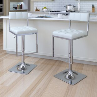 Frasure Adjustable Height Swivel Bar Stool (Set of 2)